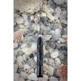 Outdoorový nôž VORSMA Ovád 2 Damašek, kámen, černý hrab, vyřezávaný, 147 mm