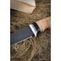 Outdoorový nôž VORSMA Slon, damašek, březová kůra, 155 mm