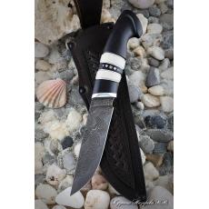 Outdoorový nôž VORSMA BODÁK, Damašek, laminovaný, černý habr,...