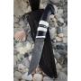 Outdoorový nôž VORSMA BODÁK, Damašek, laminovaný, černý habr, losí parohy, 115 mm