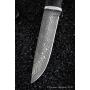 Outdoorový nôž VORSMA DIVOČÁK, Damašek, černý hrab, karelianská bříza, 140 mm