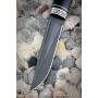 Outdoorový nôž VORSMA ULAN, Bulat, černý habr, melchior, 120 mm