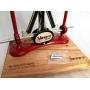 Brúska na nože Warthog Classic II ELITE Red s dřevěným podstavcem
