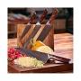 Japonský nôž na mäso Gyuto / Chef Kiritsuke Dellinger Rose-Wood Damascus, 215mm