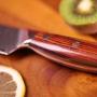 Japonský nôž na okrajovanie ovocia a zeleniny Dellinger Rose-Wood Damascus, 70mm