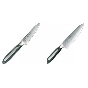 Japonský okrajovací nôž Tojiro Flash (FF-PA100), 100 mm + Japonský šéfkucharský nôž Tojiro Flash (FF-CH180), 180 mm
