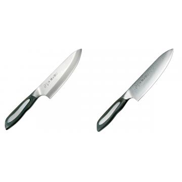 Japonský tradičné nôž na ryby a mäso Deba Tojiro Flash 165mm + Japonský šéfkucharský nôž Tojiro Flash (FF-CH180), 180 mm