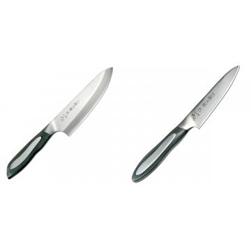 Japonský tradičné nôž na ryby a mäso Deba Tojiro Flash 165mm + Japonský okrajovací nôž Tojiro Flash (FF-PA100), 100 mm