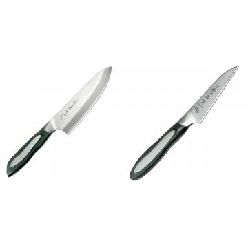Japonský tradičné nôž na ryby a mäso Deba Tojiro Flash 165mm + Japonský okrajovací nôž Tojiro Flash 90mm