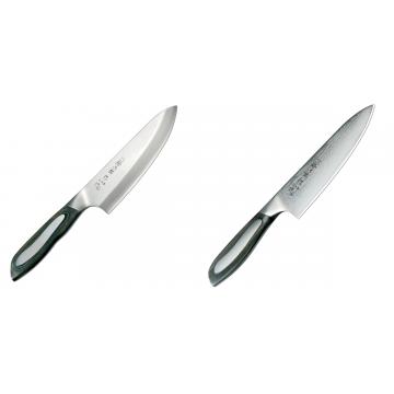 Japonský tradičné nôž na ryby a mäso Deba Tojiro Flash 165mm + Japonský šéfkucharský nôž Tojiro Flash 160mm