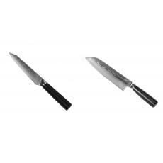 Kuchynský univerzálny nôž Seburo SARADA Damascus 120mm + Santoku...