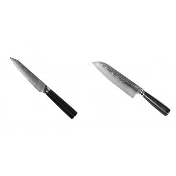 Kuchynský univerzálny nôž Seburo SARADA Damascus 120mm + Santoku nôž Seburo SARADA Damascus 190mm