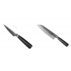 Nôž na ovocie a zeleninu Seburo SARADA Damascus 90mm + Santoku...