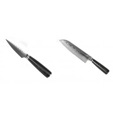 Nôž na ovocie a zeleninu Seburo SARADA Damascus 90mm + Santoku nôž Seburo SARADA Damascus 190mm