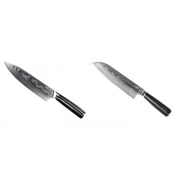 Šéfkucharský nôž Seburo SARADA II Damascus 190mm + Santoku nôž Seburo SARADA Damascus 190mm