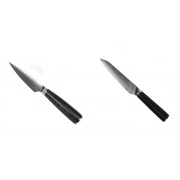 Nôž na ovocie a zeleninu Seburo SARADA Damascus 90mm + Kuchynský univerzálny nôž Seburo SARADA Damascus 120mm