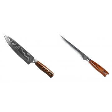 Šéfkucharský nôž Seburo SUBAJA II Damascus 195mm + Vykosťovací nôž Seburo SUBAJA Damascus 150mm