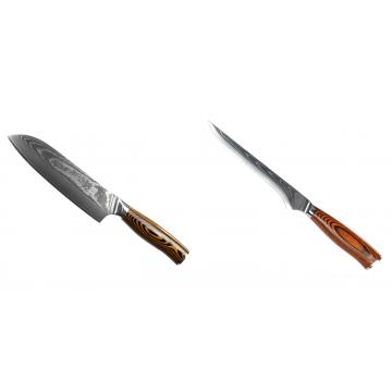 Santoku nôž Seburo SUBAJA II Damascus 190mm + Vykosťovací nôž Seburo SUBAJA Damascus 150mm