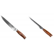 Filetovací nôž Seburo SUBAJA II Damascus 200mm + Vykosťovací nôž...