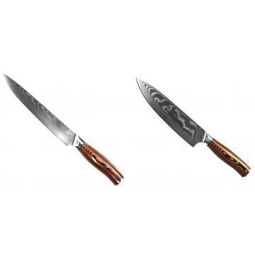 Filetovací nôž Seburo SUBAJA II Damascus 200mm + Šéfkucharský nôž Seburo SUBAJA II Damascus 195mm