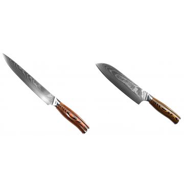 Filetovací nôž Seburo SUBAJA II Damascus 200mm + Santoku nôž Seburo SUBAJA II Damascus 190mm