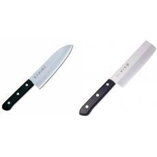 Japonský Santoku nôž Tojiro Western 170mm + Japonský Nakiri nôž...