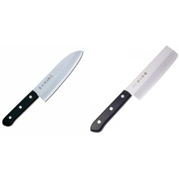 Japonský Santoku nôž Tojiro Western 170mm + Japonský Nakiri nôž Tojiro Western 165mm