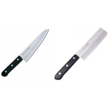 Japonský šéfkucharský nôž Tojiro Western, 180mm (F-312) + Japonský Nakiri nôž Tojiro Western 165mm