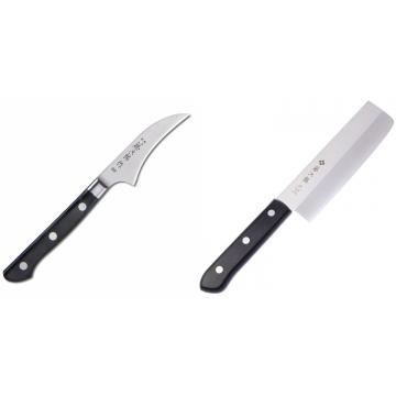 Japonský lúpací nôž Tojiro Western 70mm + Japonský Nakiri nôž Tojiro Western 165mm
