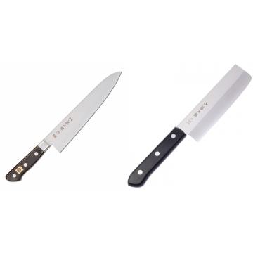 Japonský šéfkuchařský nůž Tojiro Western F-809, 240mm + Japonský Nakiri nôž Tojiro Western 165mm