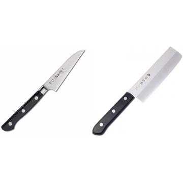 Japonský okrajovací nôž Tojiro Western 90mm + Japonský Nakiri nôž Tojiro Western 165mm