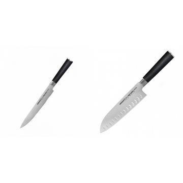 Filetovací nůž Samura MO-V (SM-0045), 230mm + Santoku nůž Samura Mo-V (SM-0094), 180mm