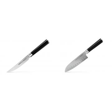 Steakový nůž Samura Mo-V (SM-0031), 120mm + Santoku nůž Samura Mo-V (SM-0094), 180mm