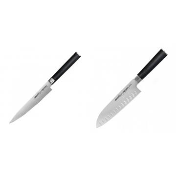 Univerzální nůž Samura Mo-V (SM-0023), 150 mm + Santoku nůž Samura Mo-V (SM-0094), 180mm