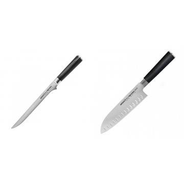 Filetovací nôž Samura Mo-V (SM-0048), 218 mm + Santoku nůž Samura Mo-V (SM-0094), 180mm
