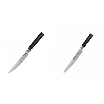 Steakový nůž Samura Mo-V (SM-0031), 120mm + Filetovací nůž Samura MO-V (SM-0045), 230mm