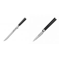 Filetovací nôž Samura Mo-V (SM-0048), 218 mm + Nůž na ovoce a...