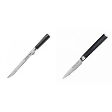 Filetovací nôž Samura Mo-V (SM-0048), 218 mm + Nůž na ovoce a zeleninu Samura Mo-V (SM-0010), 90mm