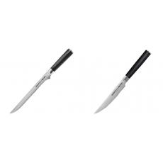 Filetovací nôž Samura Mo-V (SM-0048), 218 mm + Steakový nůž...