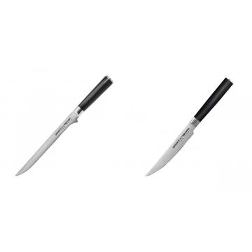 Filetovací nôž Samura Mo-V (SM-0048), 218 mm + Steakový nůž Samura Mo-V (SM-0031), 120mm