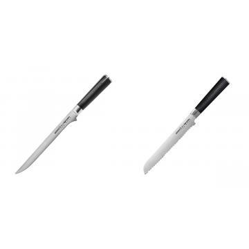 Filetovací nôž Samura Mo-V (SM-0048), 218 mm + Nůž na chléb a pečivo Samura MO-V (SM-0055), 230 mm