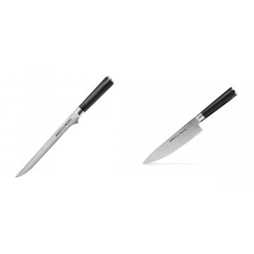 Filetovací nôž Samura Mo-V (SM-0048), 218 mm + Šéfkuchařský nůž Samura MO-V (SM-0085), 200mm