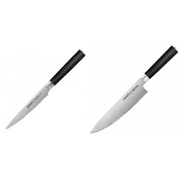 Nůž na rajčata Samura MO-V (SM-0071), 120mm + Šéfkuchařský nůž Samura MO-V (SM-0085), 200mm
