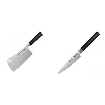 Kuchařský nůž-sekáček Samura Mo-V (SM-0040), 180mm + Univerzální nůž Samura Mo-V (SM-0021), 125mm