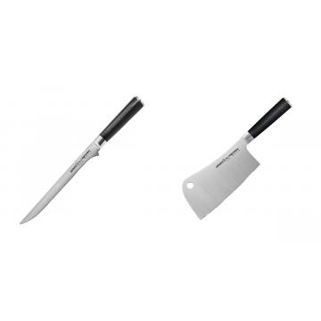 Filetovací nôž Samura Mo-V (SM-0048), 218 mm + Kuchařský nůž-sekáček Samura Mo-V (SM-0040), 180mm