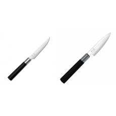Steakový nôž KAI Wasabi Black, 110mm + Univerzální nôž KAI...