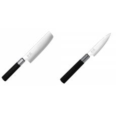 Wasabi Black Nakiri KAI 165mm + Univerzální nôž KAI Wasabi...