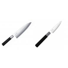 Wasabi Black Deba KAI 210mm + Univerzální nôž KAI Wasabi Black,...