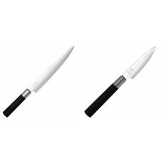 Nôž plátkovací KAI Wasabi Black, 230 mm + Univerzální nôž KAI...