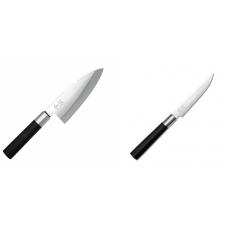 Vykosťovací nůž KAI Wasabi Black Deba, 155 mm + Steakový nôž KAI...